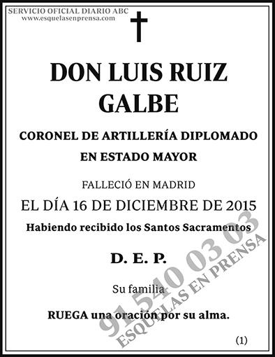 Luis Ruiz Galbe